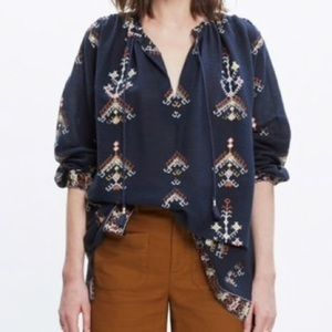 Madewell Folkstitch Popover